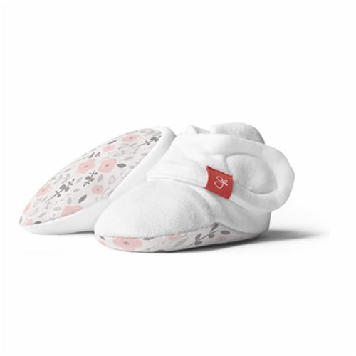 Goumikids Super Soft Organic Stay On Baby Infant Booties, 0-3M Enchanted Garden Perspective: front