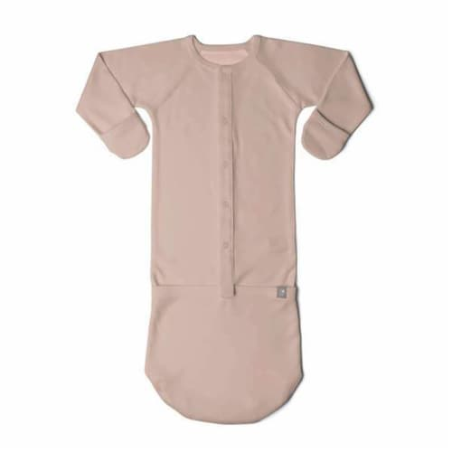 Goumikids Baby Sleeper Gown Organic Bamboo Sleepsack Pajama Clothes, 3-6M Rose Perspective: front