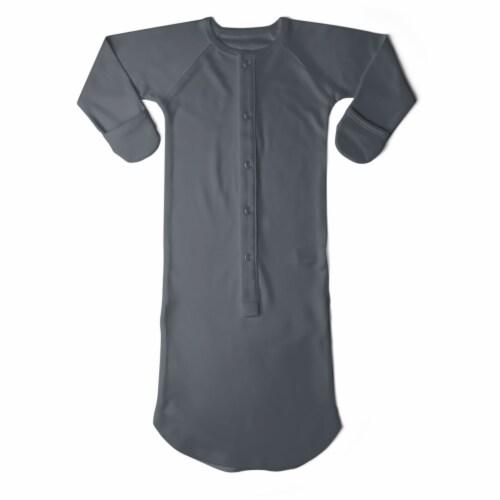 Goumikids Baby Night Gown Sleepsack Pajama Organic Sleep Clothes, 0-3M Midnight Perspective: front