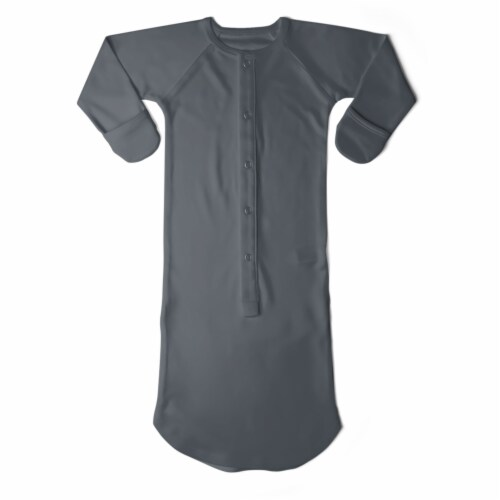 Goumikids Baby Night Gown Sleepsack Pajama Organic Sleep Clothes, 3-6M Midnight Perspective: front