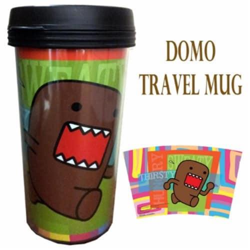 Precious Kids 81010 Domo 15 oz. Plastic Travel Mug Perspective: front