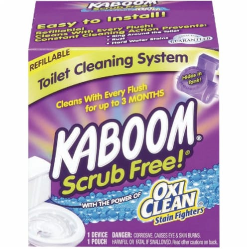 Kaboom  Scrub Free  Clean Scent Toilet Bowl Cleaner  1.38 oz. Tablet - Case Of: 1; Perspective: front