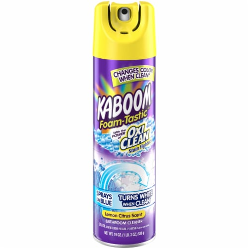 Kaboom™ Foam-Tastic™ Lemon Citrus Scent Bathroom Cleaner with OxiClean Perspective: front
