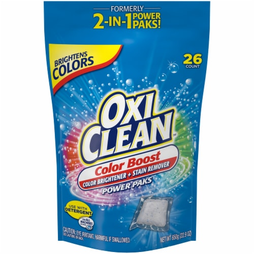 OxiClean Color Boost Color Brightener + Stain Remover Power Paks Perspective: front