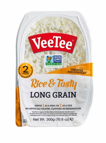 Veetee Rice & Tasty Long Grain Rice Perspective: front
