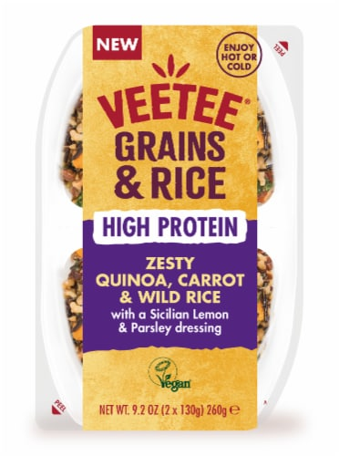Zesty Quinoa, Carrot & Wild Rice in a Sicilian Lemon & Parsley Dressing Perspective: front