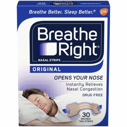 Breathe Right Original Small-Medium Tan Strips Perspective: front