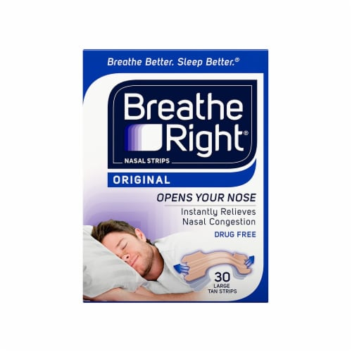 Breathe Right Original Tan Nasal Strips Perspective: front