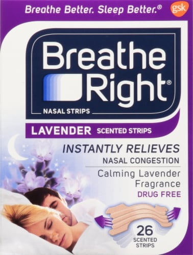 Breathe Right Lavender Scented Nasal Strips Perspective: front
