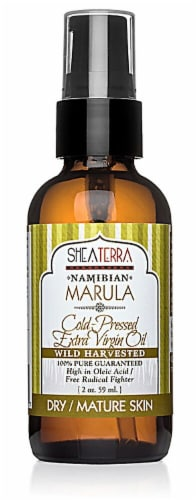 Shea Terra Organics  Namibian Marula Cold-Pressed Extra Virgin Oil Perspective: front
