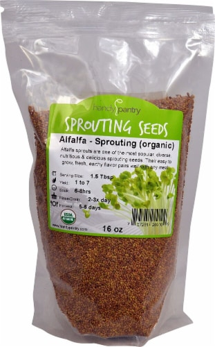 Handy Pantry  Organic Alfalfa Sprouting Seeds Perspective: front