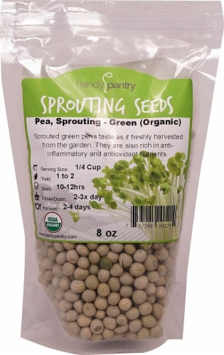 Handy Pantry  Organic Green Pea Sprouting Seeds Perspective: front