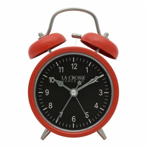 La Crosse Technology Twin Bell Alarm Clock - Red Perspective: front