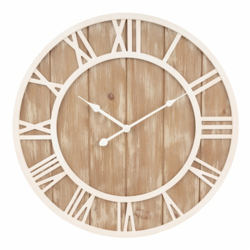 La Crosse Technology Wood Wall Clock - Off White Perspective: front