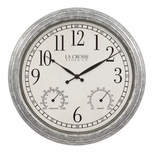 La Crosse Technology Silas Indoor/Outdoor Wall Clock Perspective: front