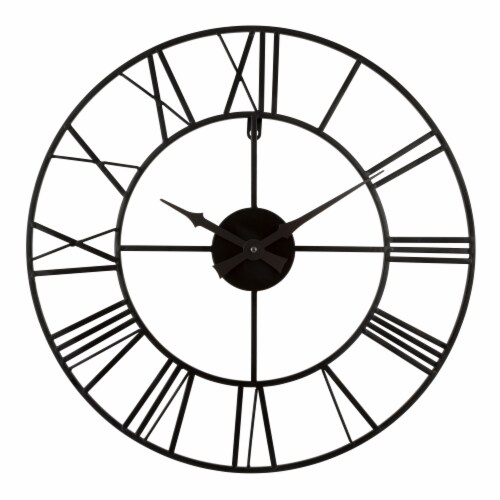 La Crosse Technology Wrought Iron Wall Clock - Black Perspective: front