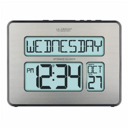 La Crosse Clock Company Atomic Digital Clock Perspective: front