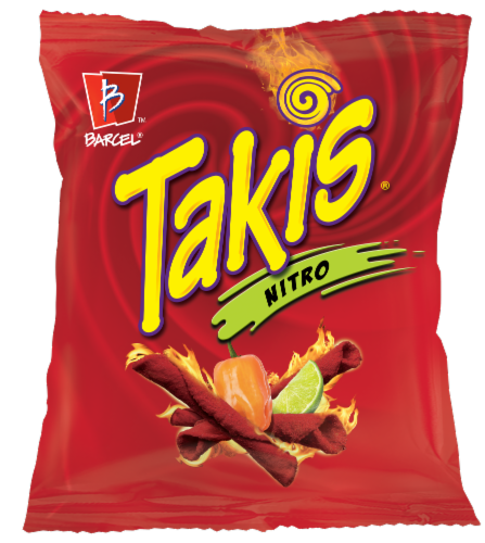 Takis Nitro Habanero and Lime Tortilla Chips Perspective: front