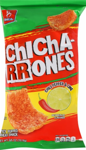 Barcel Chicharrones Chili Pepper & Lime Spicy Puffed Wheat Snacks Perspective: front