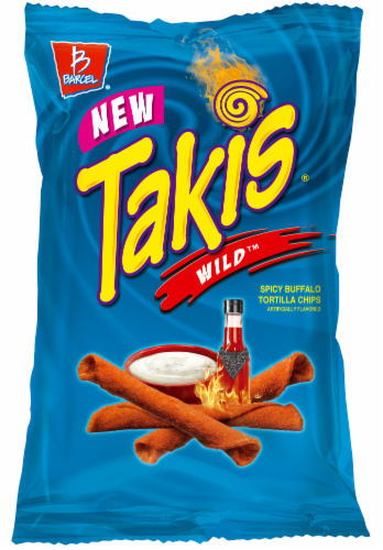 Takis Wild Spicy Buffalo Flavor Rolled Tortilla Chips Perspective: front