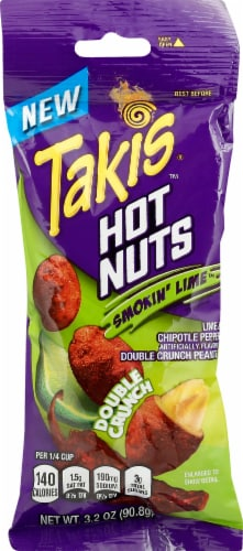 Takis Hot Nuts Smokin' Lime Chipotle Peanuts Perspective: front