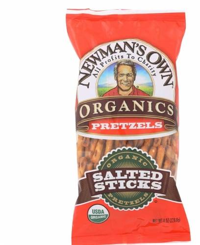 Newmans Own Organics Salted Pretzel Sticks, 8 Oz (Pack of 12) Perspective: front