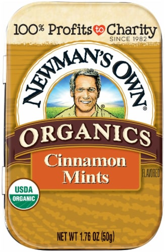 Newman's Own Organics Cinnamon Mints Perspective: front
