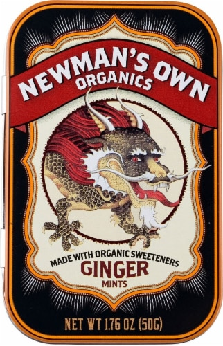 Newman's Own Organic Ginger Mints Perspective: front