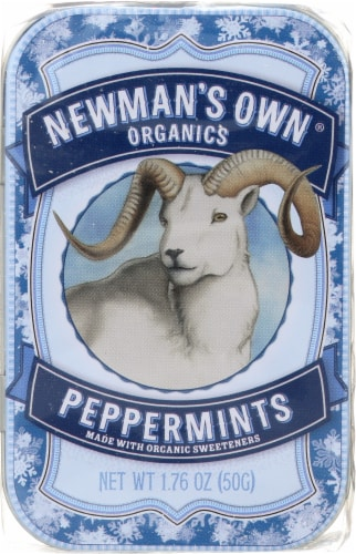 Newman's Own Organics Peppermints Perspective: front