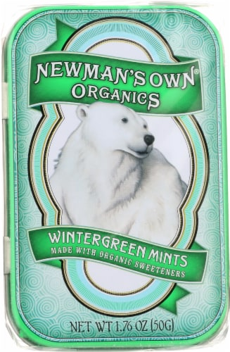 Newman's Own Organics Wintergreen Mints Perspective: front