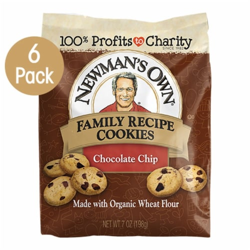 Newman's Own Chocolate Chip Family Recipe Cookies Perspective: front