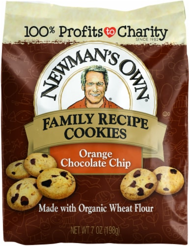 Newman's Own Orange Chocolate Chip Family Recipe Cookies Perspective: front