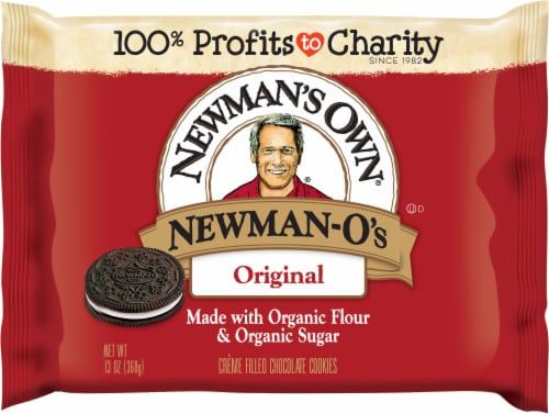 Newman's Own Newman-O's Creme Filled Chocolate Cookies Perspective: front