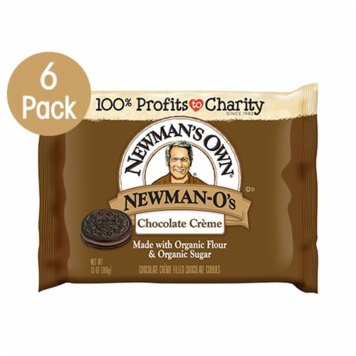 Newman's Own Chocolate Creme Newman-O's Cookies Perspective: front