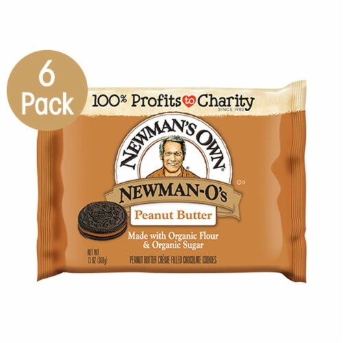 Newman's Own Peanut Butter Newman-O's Cookies (6 Pack) Perspective: front