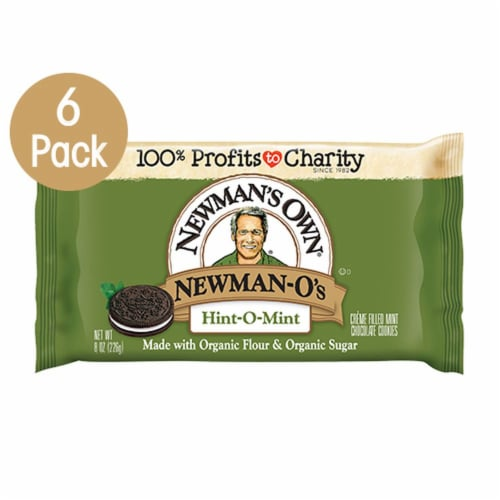 Newman's Own Hint-O-Mint Newman-O's Cookies Perspective: front