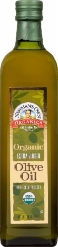 Newman's Own Organics Extra Virgin Olive Oil Perspective: front