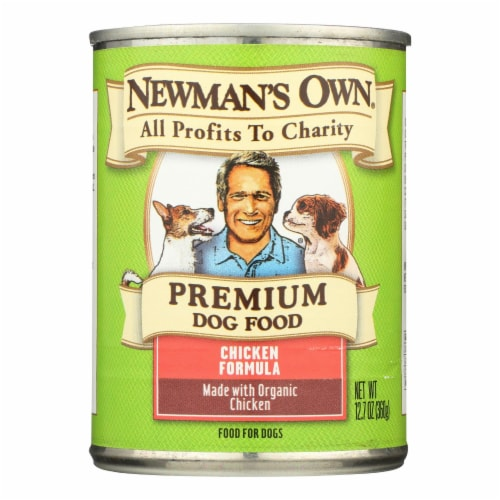 Newman's Own Organics Organic Dog Food Can - Chicken - Case of 12 - 12.7 oz. Perspective: front