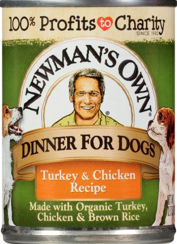 Newman's Own Organics Turkey & Chicken Premium Wet Dog Food Perspective: front