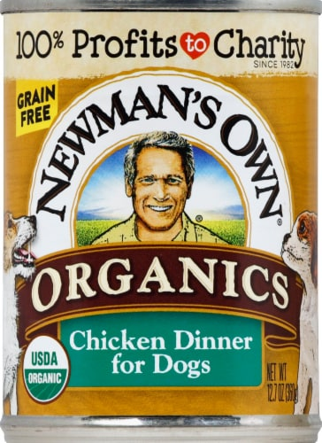 Newman's Own Organics Grain Free Chicken Dinner Premium Wet Dog Food Perspective: front