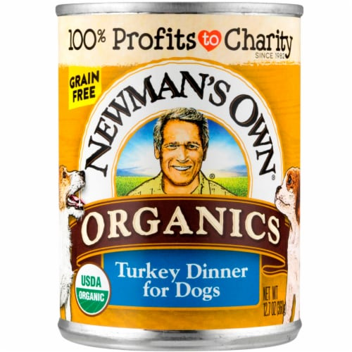 Newman's Own Organic Grain Free Turkey Dinner for Dogs Wet Dog Food Perspective: front