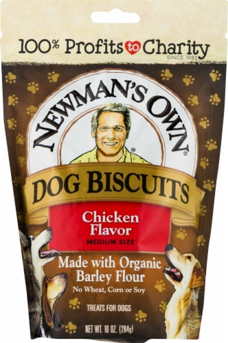 Newman's Own Chicken Flavor Dog Biscuits Perspective: front