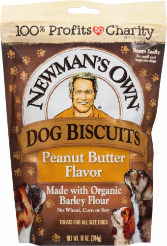 Newman's Own Peanut Butter Flavor Dog Biscuits Perspective: front