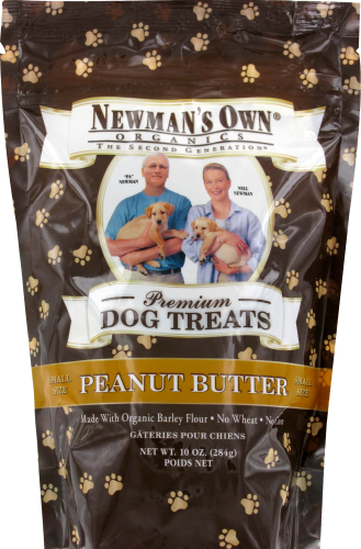 Newman's Own Organics Peanut Butter Dog Treat Small Perspective: front