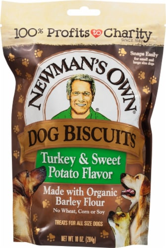 Newman's Own Turkey & Sweet Potato Dog Biscuits Perspective: front