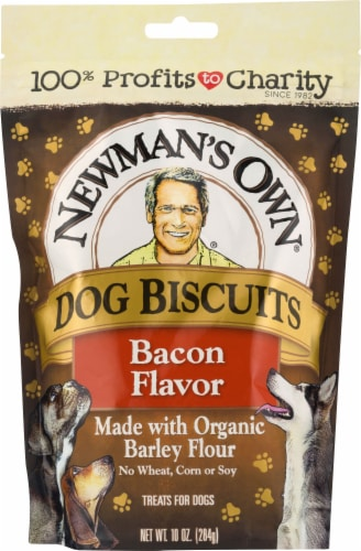 Newman's Own Bacon Flavor Dog Biscuits Perspective: front