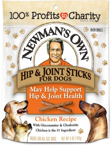 Newman's Own Hip & Joint Chicken Recipe Snack Sticks For Dogs Perspective: front