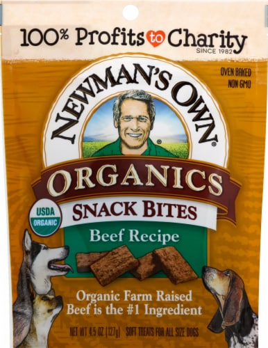 Newman's Own Organic Beef Recipe Snack Bites Perspective: front