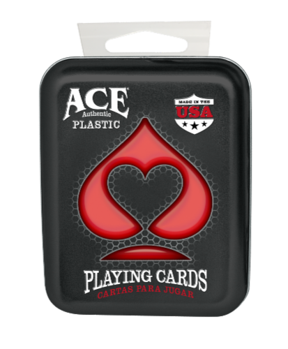 Ace Authentic Plastic Playing Cards Perspective: front