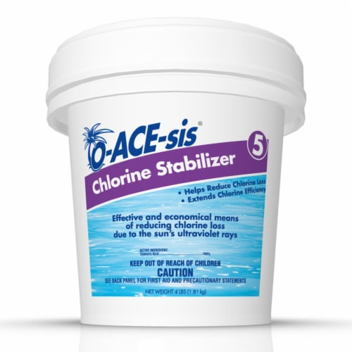 O-ACE-sis Tablet Chlorine Stabilizer 4 lb. - Case Of: 8; Perspective: front